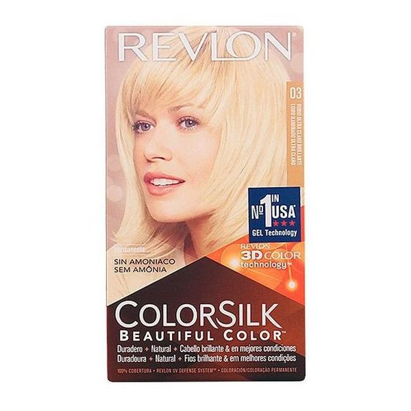 Tinte sin Amoniaco Colorsilk Revlon Rubio ultra claro natural