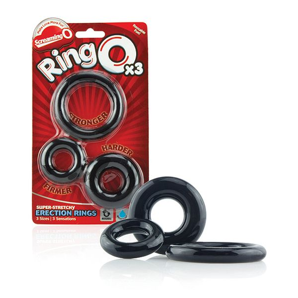 Set de 3 Anillos para Pene O The Screaming O SC-RNGO-3P