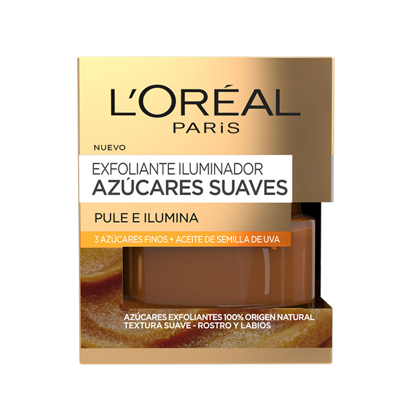 Exfoliante Iluminador Azúcares Suaves L'Oreal Make Up (50 ml)