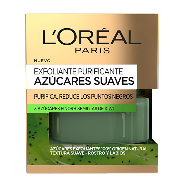 Exfoliante Purificante Azúcares Suaves L'Oreal Make Up (50 ml)