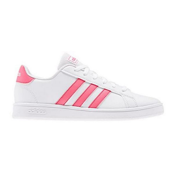 Zapatillas Casual Niño Adidas Grand Court K Blanco Rosa