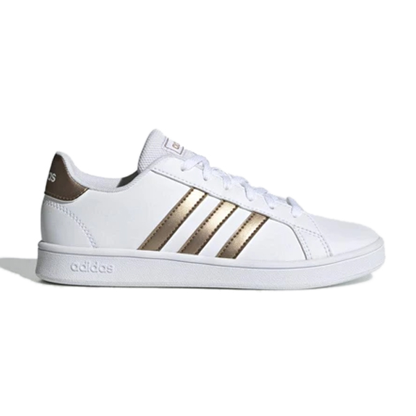 Zapatillas Casual Niño Adidas Grand Court K Blanco