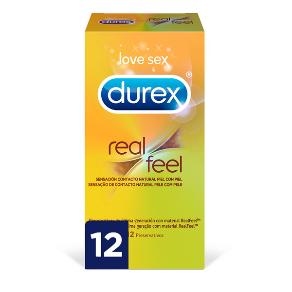 Preservativos Real Feel Durex (12 uds)