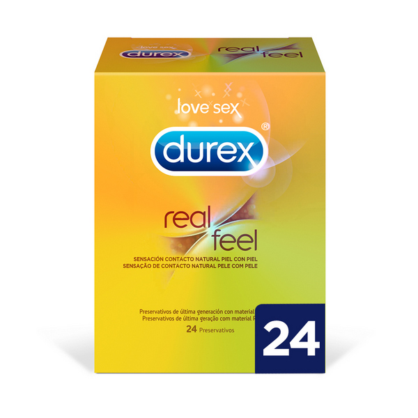 Preservativos Real Feel Durex (24 uds)