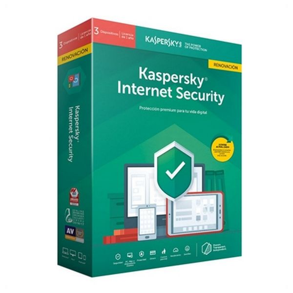 Antivirus Hogar Kaspersky Internet Security MD 2019 RN Windows macOS