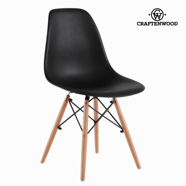 Silla de Comedor ABS Negro by Craftenwood