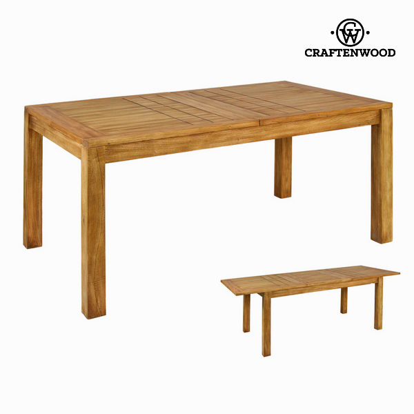Mesa Extensible Madera de mindi (160 x 90 x 78 cm) - Colección Square by Craftenwood