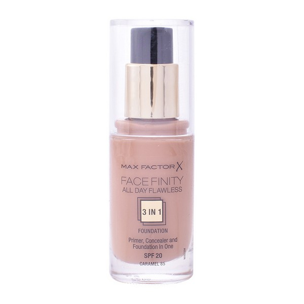 Base de Maquillaje Fluida Face Finity 3 In 1 Max Factor