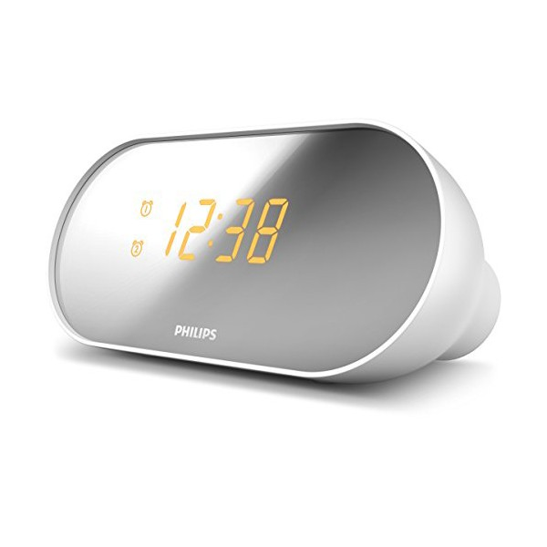 Radio-Reloj Philips AJ2000/12 LED FM Blanco