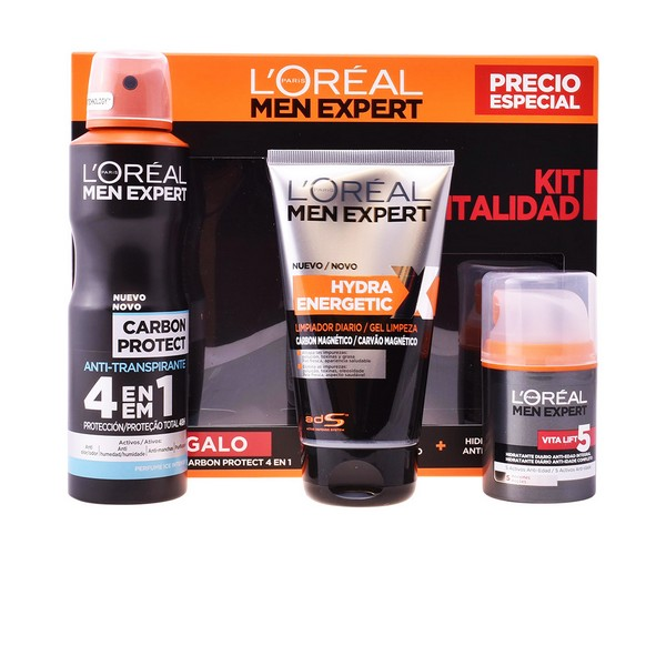 Set de Cosmética Hombre Men Expert L'Oreal Make Up (3 pcs)