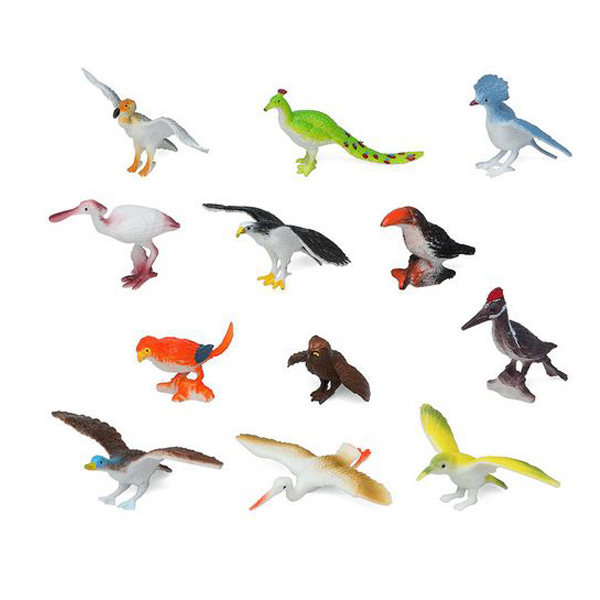 Set de Animales Salvajes 110180 Pájaro (12 Pcs)