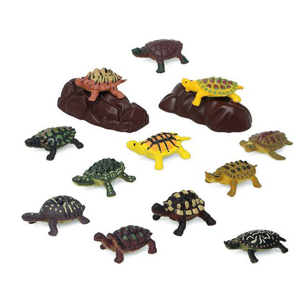 Set de Animales Salvajes 110203 Tortuga (14 Pcs)