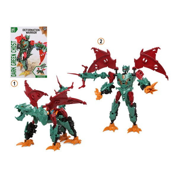Super Robot Transformable Deformation Warrior Verde 113341