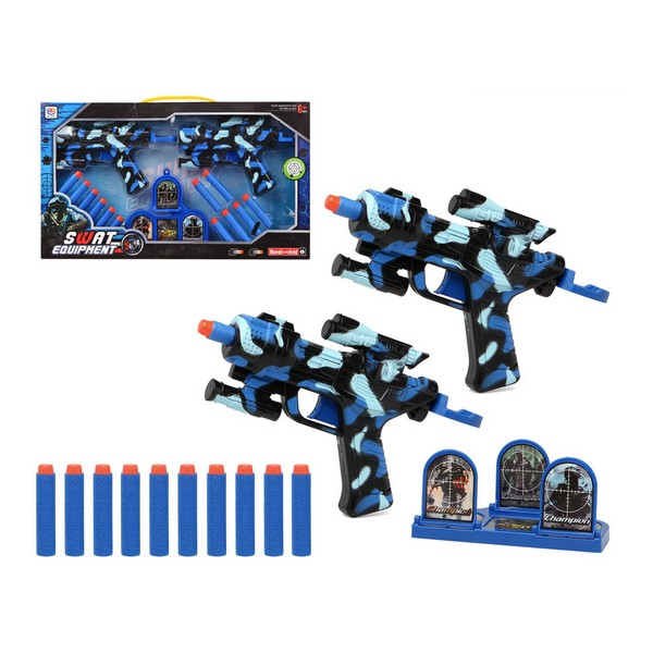 Pistola de Dardos Swat Equipment Azul (2 Uds) 111483