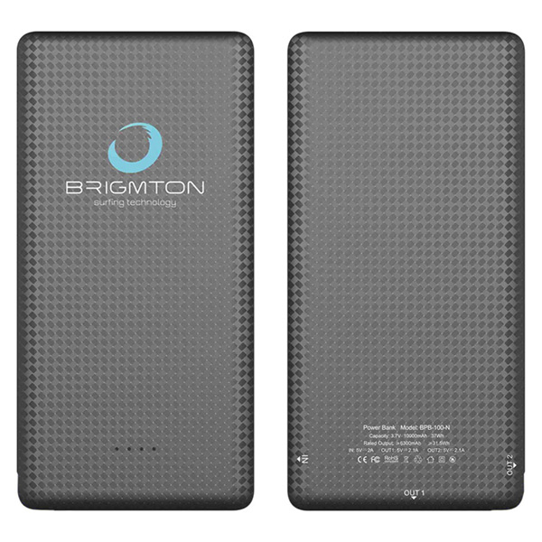 Power Bank BRIGMTON BPB-100-N 10000 mAh Negro