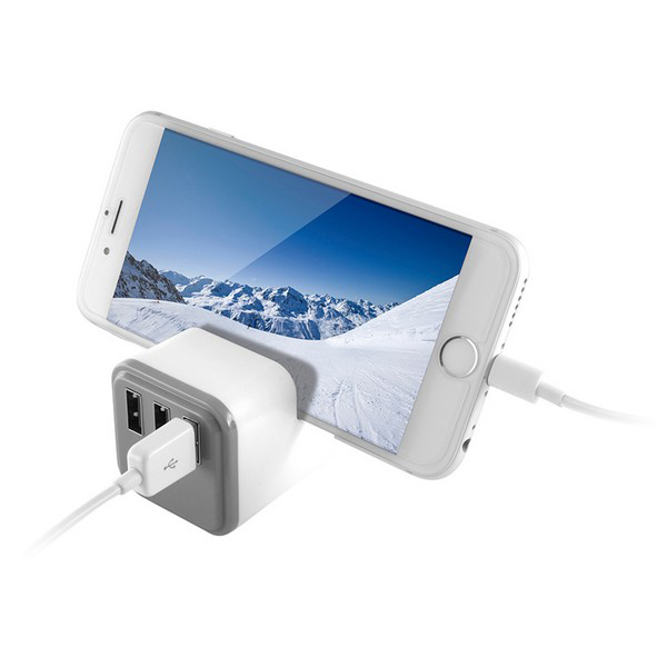 Cargador de Pared 3 USB Blanco