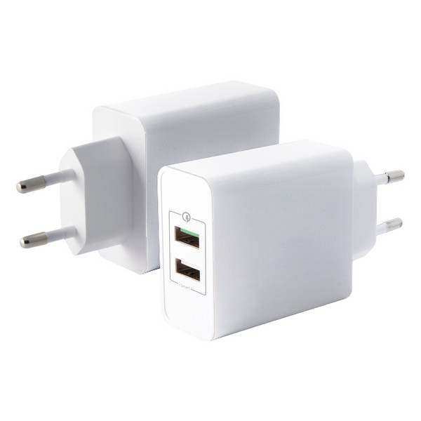 Cargador de Pared Quick Charge 3.0 USB Blanco