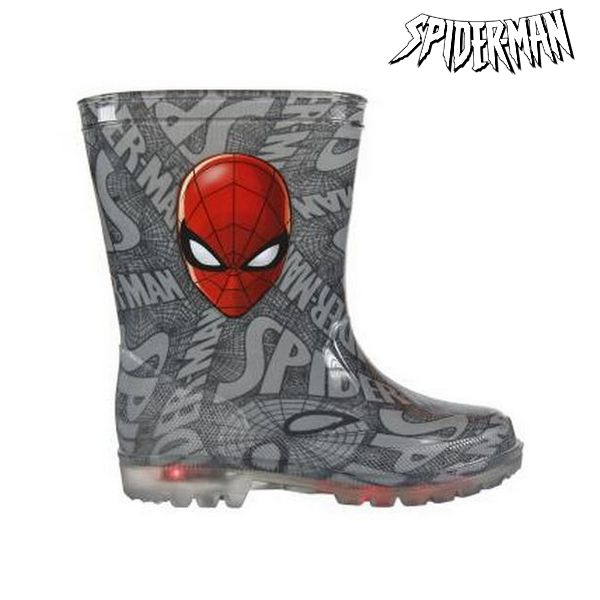 Botas de Agua Infantiles con LED Spiderman 72768