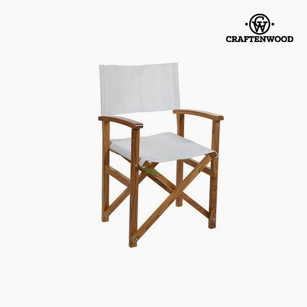 Silla Madera de nim Blanco (86 x 55 x 52 cm) by Craftenwood