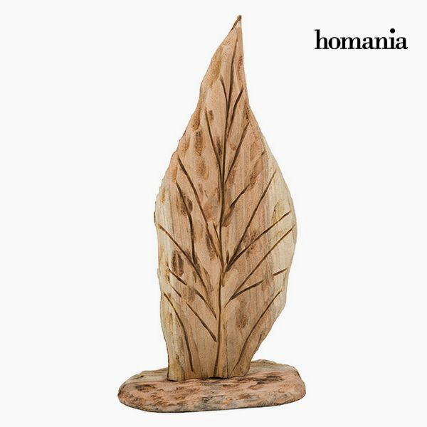 Figura Decorativa Hoja Madera by Homania