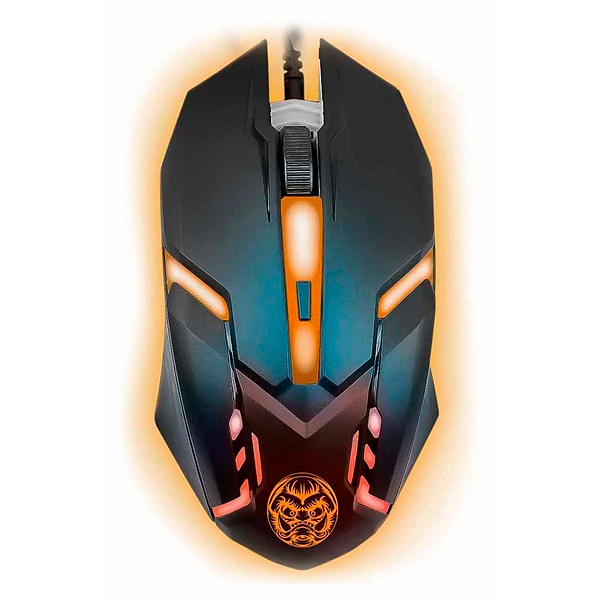 Ratón Gaming iggual IGG315828 LED Negro Naranja