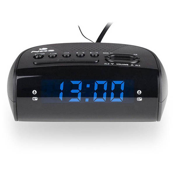 Radio Despertador NGS SUNRISE HIT AM/FM LED Negro