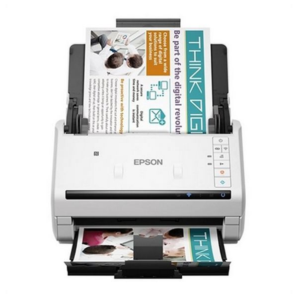 Escáner Doble Cara Epson WorkForce DS-570W 600 dpi WIFI LAN Blanco