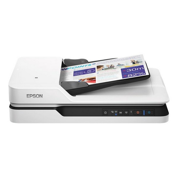 Escáner Wifi Doble Cara Epson WorkForce DS-1660W 1200 dpi LAN Blanco