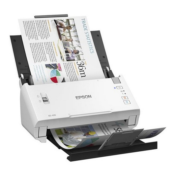 Escáner Doble Cara Epson WorkForce DS-410 600 dpi USB 2.0 Blanco