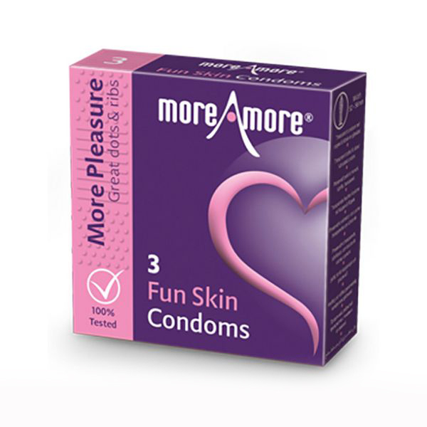 Preservativos Fun Skin (3 pcs) MoreAmore 41309