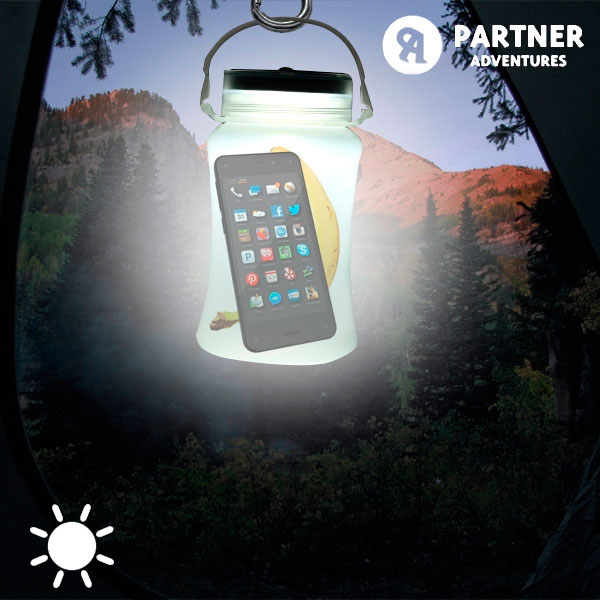 Bidón LED Solar de Silicona Partner Adventures