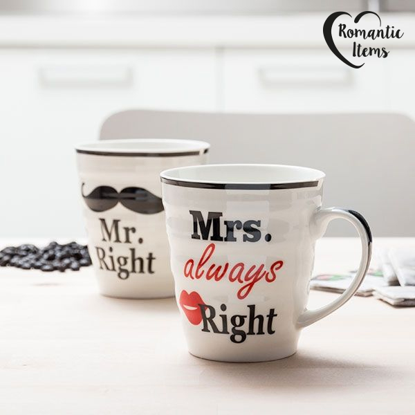 Tazas Mr. Right & Mrs. Always Right Romantic Items