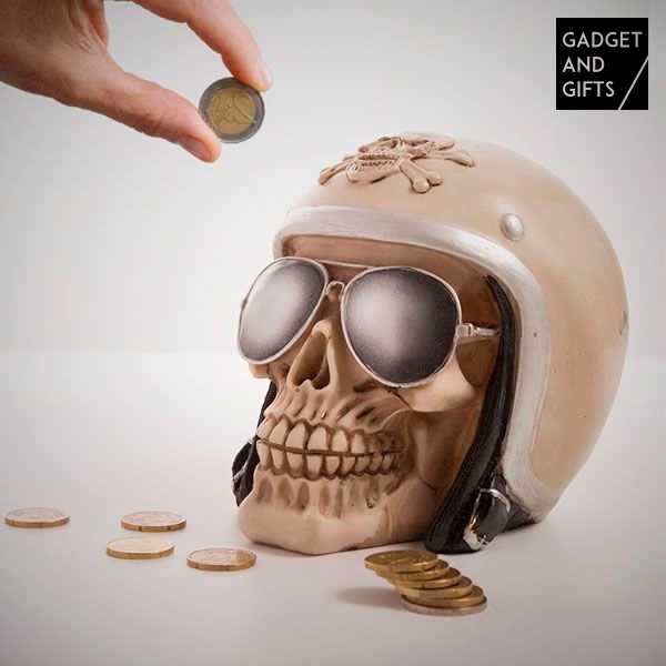 Hucha Calavera Motera Gadget and Gifts