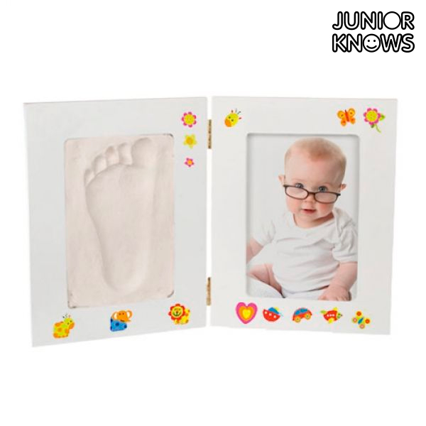 Portafotos para Bebé con Kit de Yeso Manualidades Junior Knows