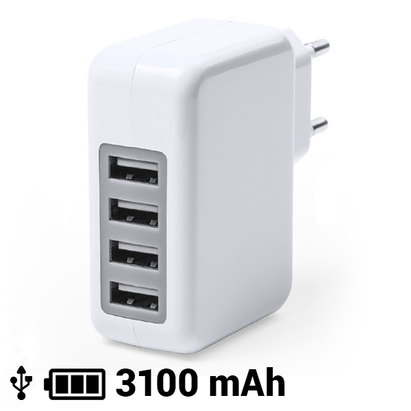 Cargador USB Pared 3100 mAh 145162