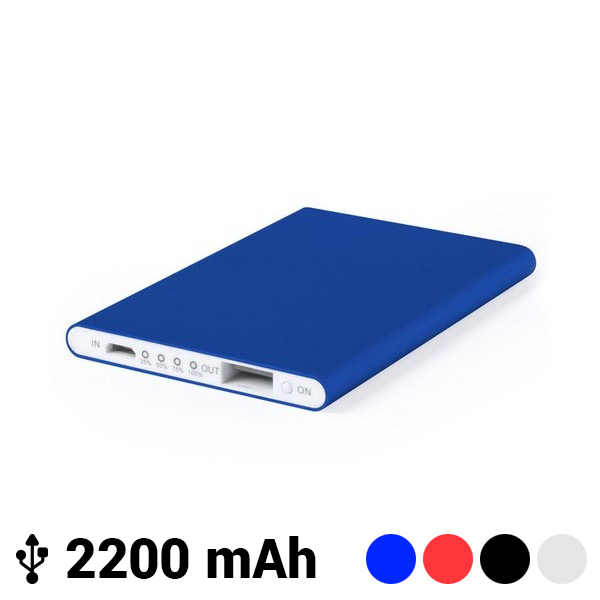 Power Bank Extraplano con Mircro USB 2200 mAh LED 145538