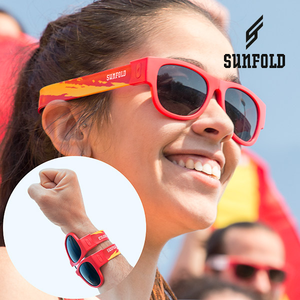 Gafas de Sol Enrollables Sunfold Mundial Spain Red