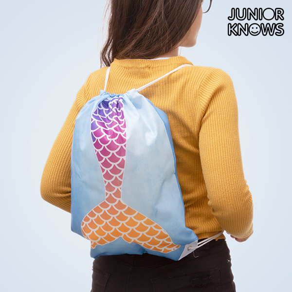 Bolsa Mochila con Cuerdas Sirena Junior Knows