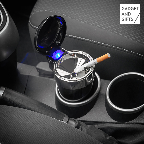 Cenicero con Tapa y LED para Coche Gadget and Gifts