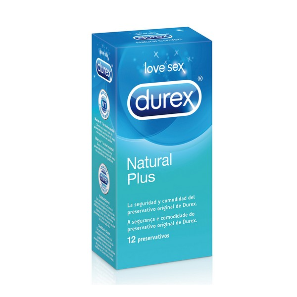 Preservativos Natural Plus Durex (12 Uds)