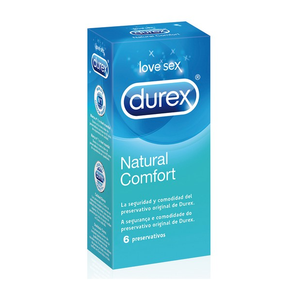 Preservativos Natural Plus Durex (6 Uds)